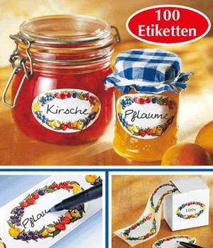 WENKO Huishoudetiketten fruitrand incl. dispenser
