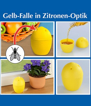 Gelb-Falle in Zitronen-Optik 1er